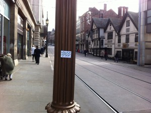 kindness message on lampost