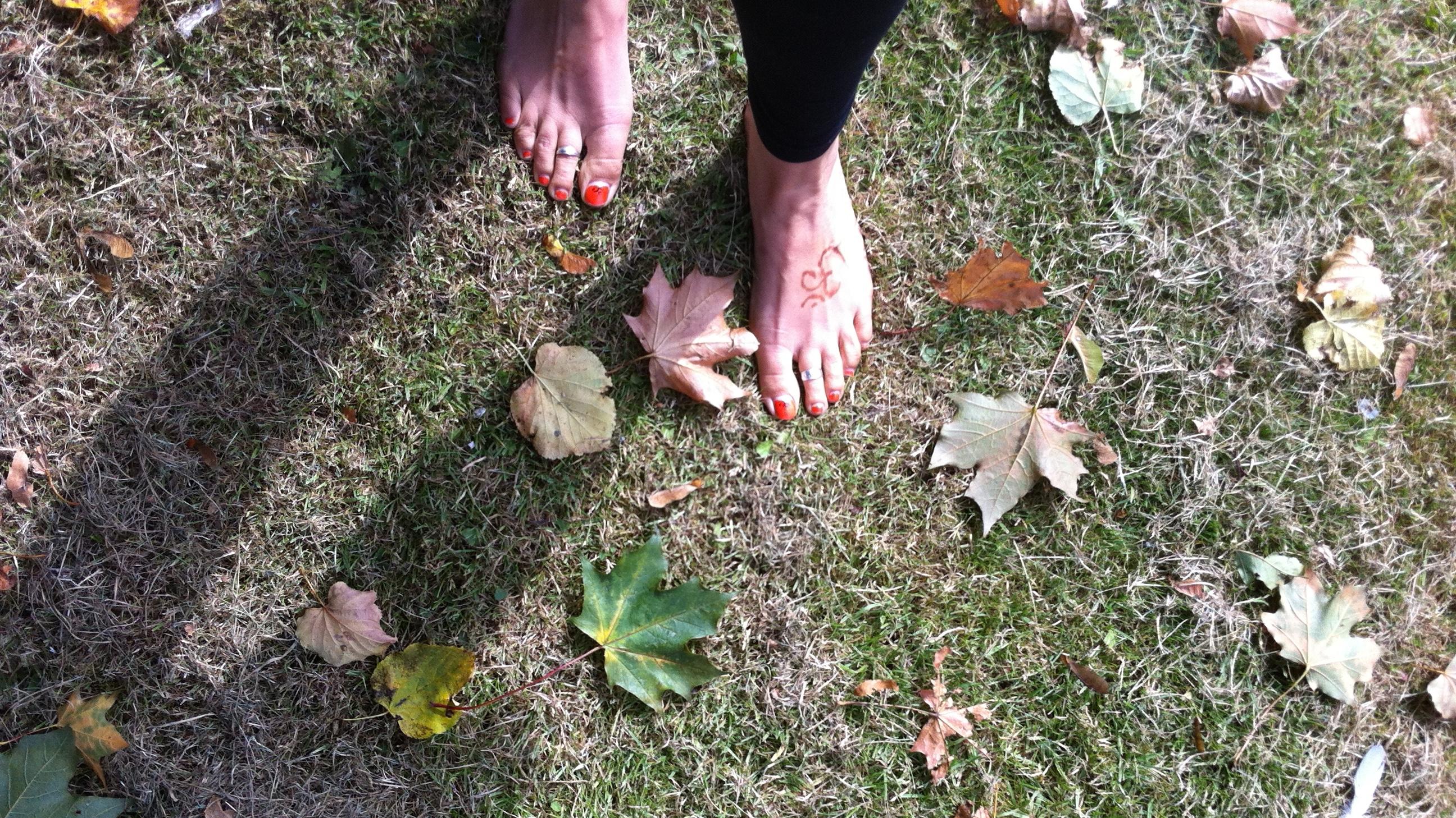 Day 56: Walking barefoot