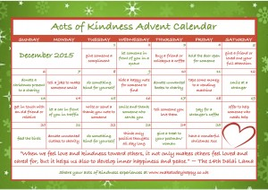 Acts of Kindness Advent Calendar by maketodayhappy.co.uk