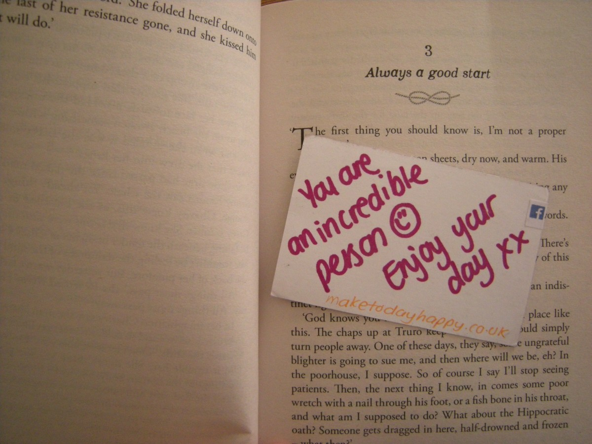 Act of kindness #9: Bookmark messages