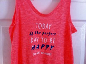 Perfect day to be happy vest
