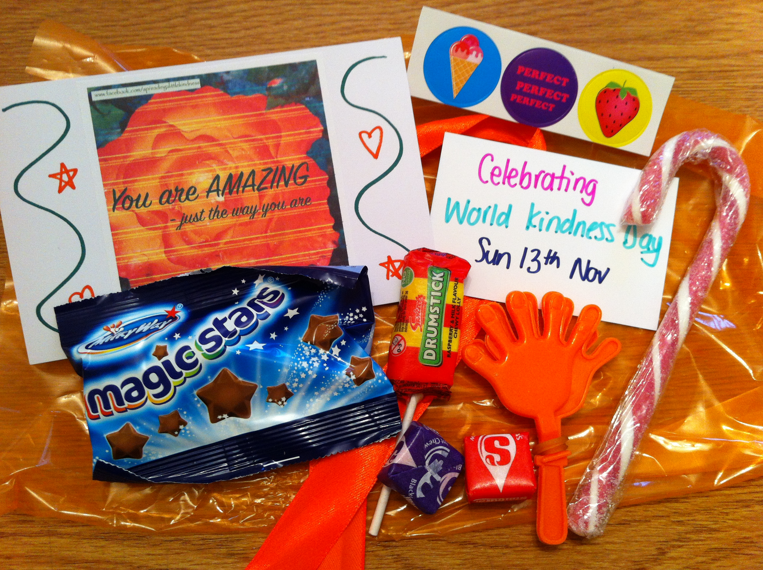 World Kindness Day Goody Bag contents