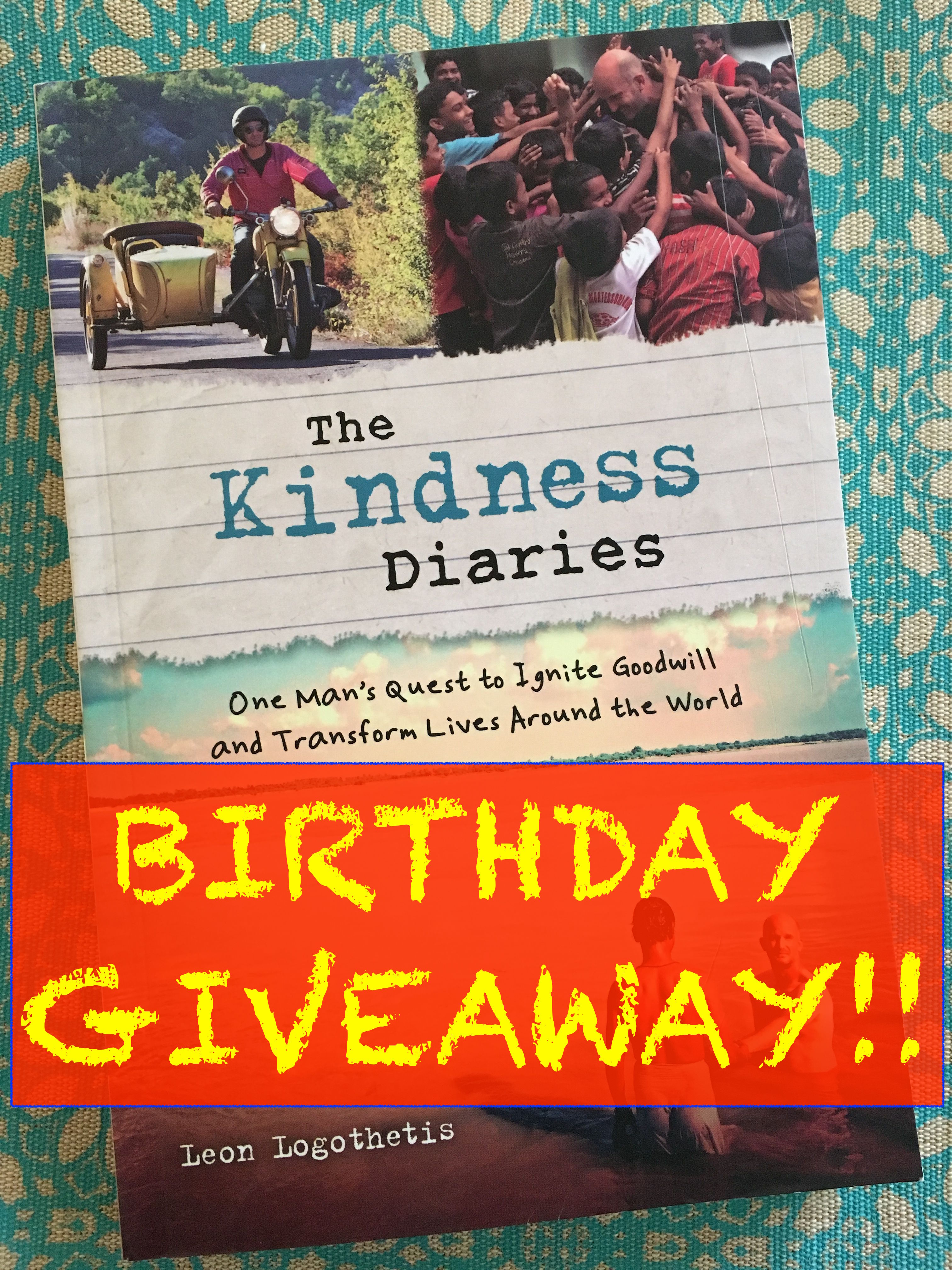 29th Kindness Diaries Bday Giveaway