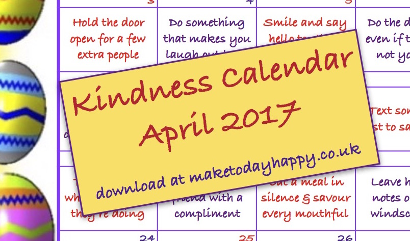 Kindness Calendar April 2017 teaser