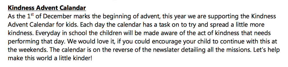 Edgwood Primary School Newsletter on KACK